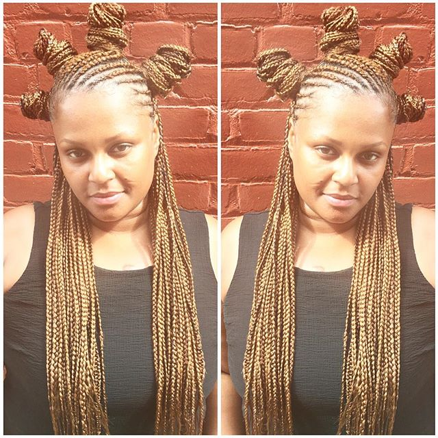 You can get many styles out of this 1 hairstyle 😜 this beauty is rocking cornrows on the top and bo