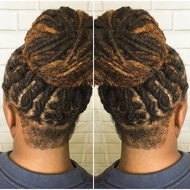 #locupdo #retwist #bun she's #instagood #colored #shaved #instadailyphoto #studio91 #linaturalhairst