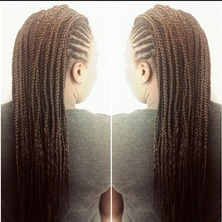 #boxbraids In the middle the sides have #cornrows  #mohawk #protectivestyles #naturalhairstyles #nat