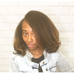 This cutey ❤️ is all blown out 😍😍#naturalhair #shes #instagood #colored #instadailyphoto #studio91