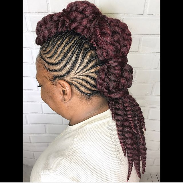 Summer Fun with a Mohawk by _aesthetic_aly #studio91nhs #linaturalhairsalon #linaturalhairstudio #lo