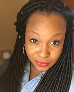 Client selfies #fauxlocs #crochet #protectivestyles #naturalhairstylist #naturalbeauty #ananodaclark