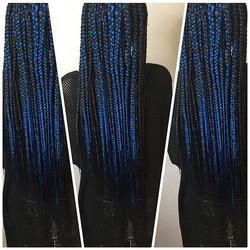 #boxbraids😍 🔵🔷🔹💙💙💙#quickbraider #braids #braidspecialist #wristgame #naturalhair #protectives