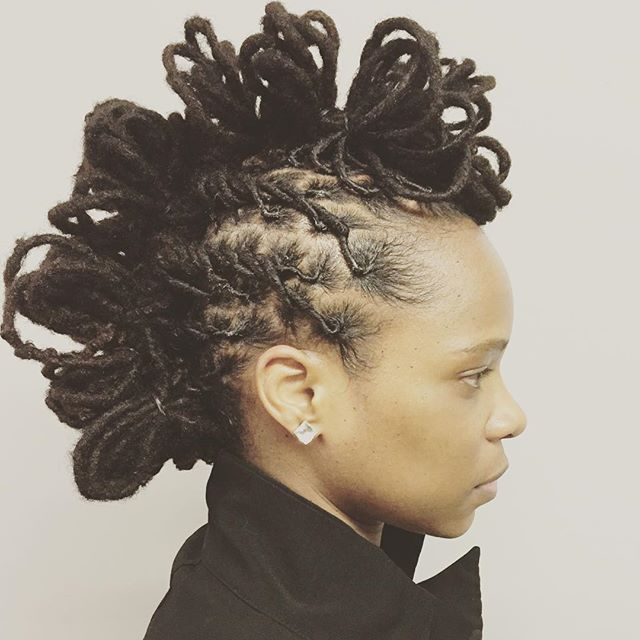 ⚔⚔SLAY⚔⚔ my newest creation _thestaceyciceronstudio #locupdo #locpetals #naturalupdo #locs #locstyle
