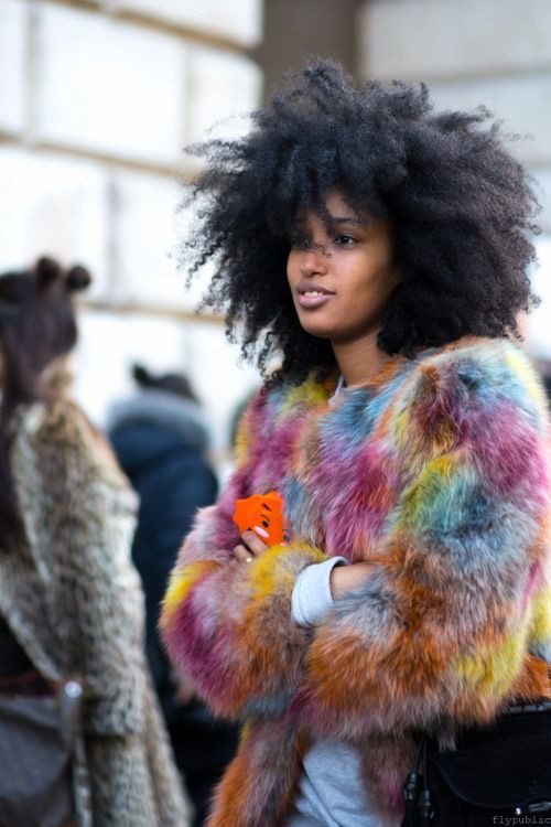 Curls & Furs..........                                   This Curly Cutie editor and street styl