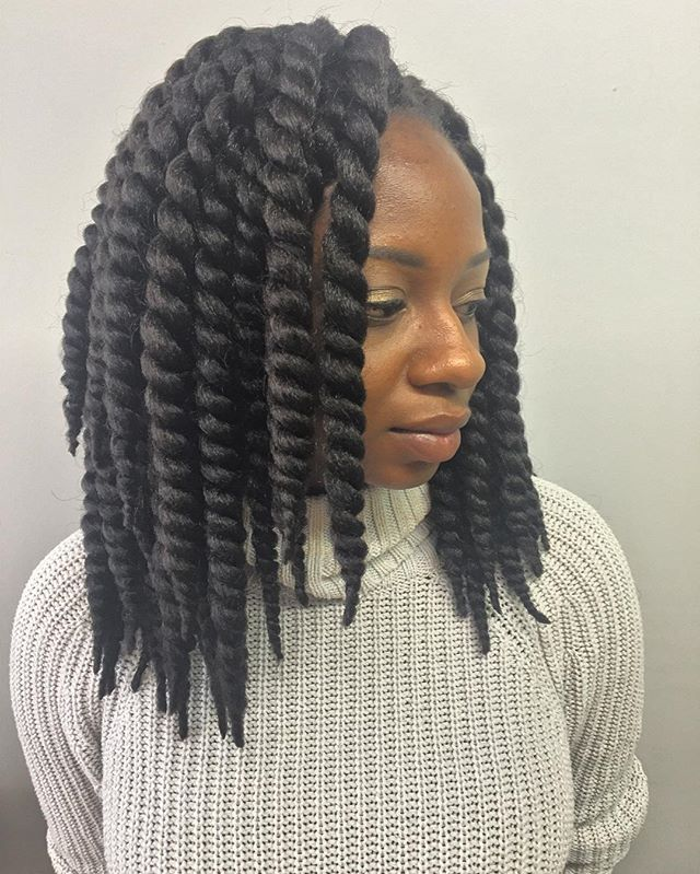 Twist that you can rock 2styles in1😜😜😜#crochetbraids #crochet #havanatwists #naturalhair #thestac