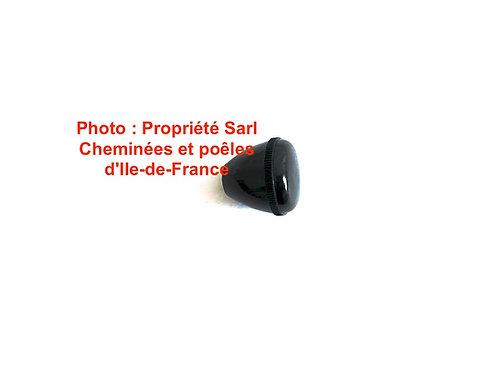 Pièces détachées Insert 600 650 Bouton Bakelite Rond 1357 Cheminées Philippe Foyer pièce détachée Radiantes