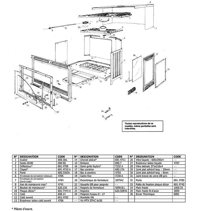 pi ces d tach es insert ecoradiante 691 chemin es philippe. Black Bedroom Furniture Sets. Home Design Ideas