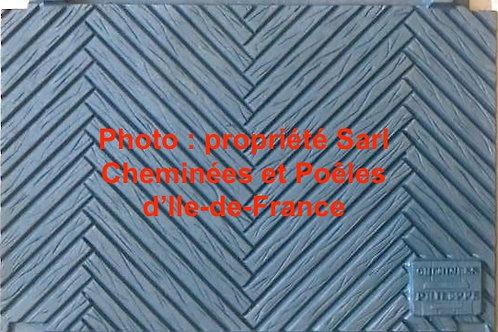 Plaque Décor Chevrons 600 4761 Primo 6004761 Insert Cheminées Philippe