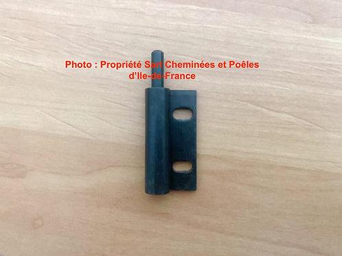 Pièces détachées Insert 1000 Inserts Cheminées Gond Male Gauche 3241 1Philippe Foyer pièce détachée Radiantes Radiante Foyers