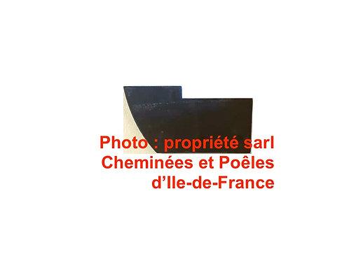Chamotte de Fond Bas Gauche pour Poêles Hacket, Carasso - 014047