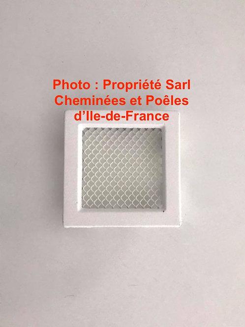 Grille d'Aération Blanche 12x12cm décompression compression