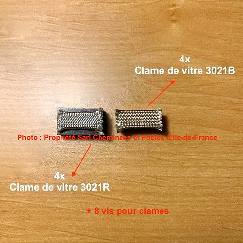 Jeu de Clames de Vitre + Vis Pour Inserts 920 & 930 - 3021B et R 3021 3021R