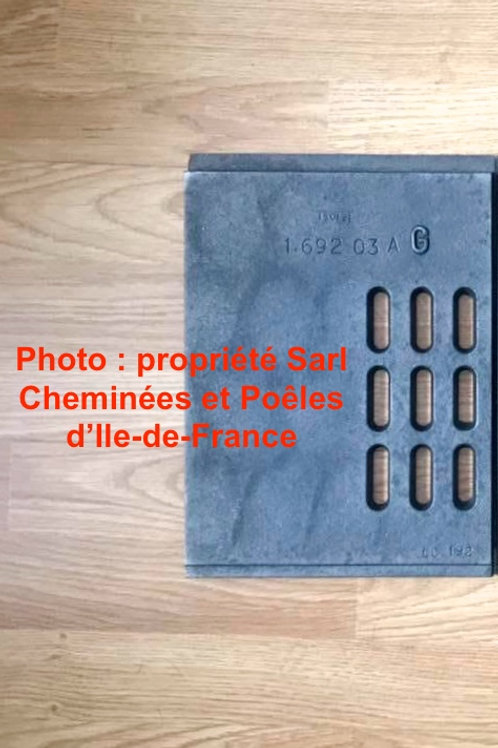 Pièces détachées Insert 694 693 Inserts Cheminées Philippe Foyer pièce détachée Radiantes Radiante Foyers Grille Grilles Demi