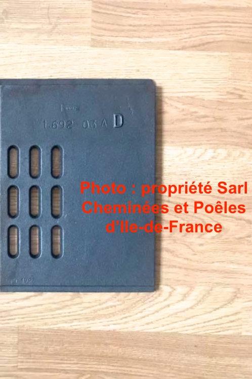 Pièces détachées Grille Demi Grilles Insert 694 Inserts Cheminées Philippe Foyer pièce détachée Radiantes Radiante Foyers