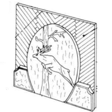 Plaque Décor - 100010 sans Ergot sur la Partie Haute