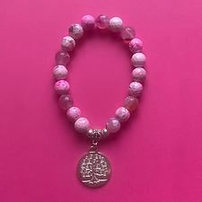 Bracelet in Dark Pink