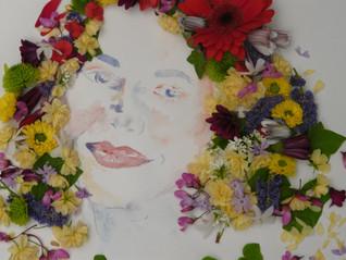 Création de portrait floral...