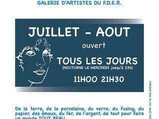 Galerie éphémère  Port de Carnon (34)  juillet -août 2019