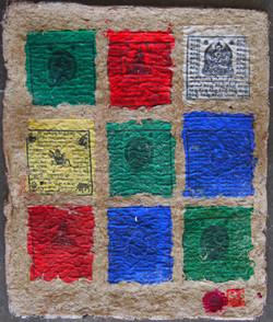 drapeau de prière Pop Art