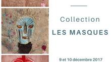 """Exposition """"Les Masques"""" 8, 9 et 10 décembre 2017 à Clapiers (34)"""