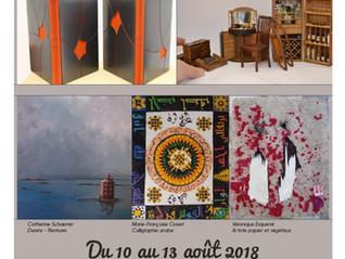 Les artistes du Rudel exposent à l'ile aux Moines du 10 au 13 aout 2018