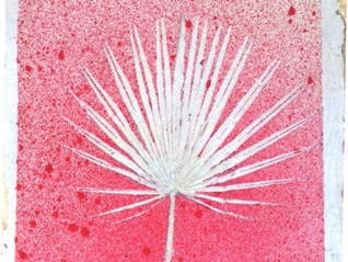 Une feuille de palmier pour une décoration tropicale