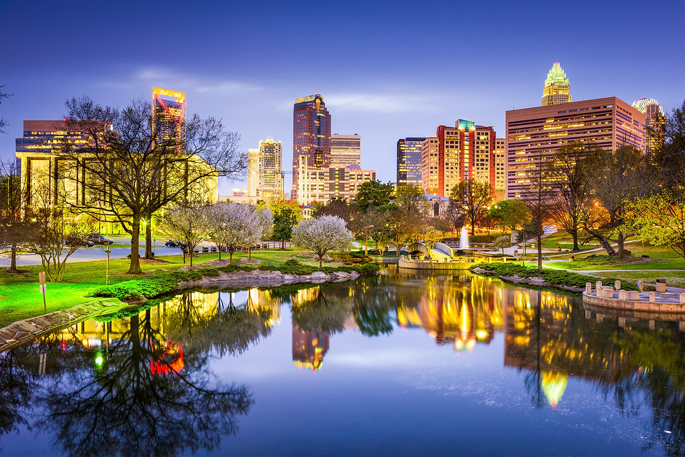 Charlotte, North Carolina, USA uptown sk