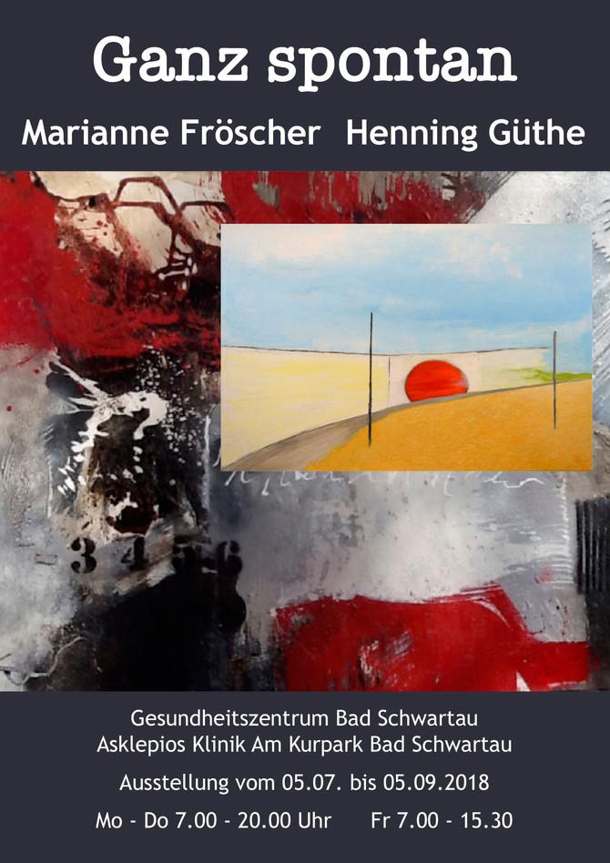"""Ausstellung """"Ganz spontan"""" im Gesundheitszentrum Asklepios Klinik"""