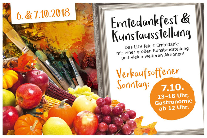 Erntedankfest & Kunstausstellung im LUV
