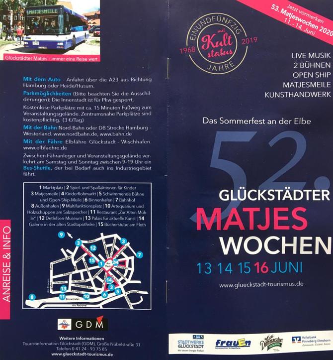 Künstlerpavillion auf den Glückstädter Matjeswochen 15.-16. Juni 2019