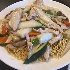 111. Hong Kong Style Chicken Chow Mein
