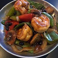 46. Shrimp with Black Bean Sauce