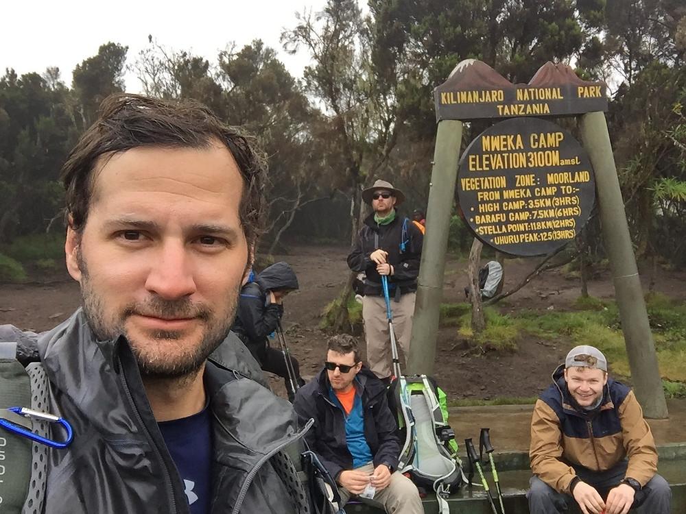 last trek down Kilimanjaro in the rain