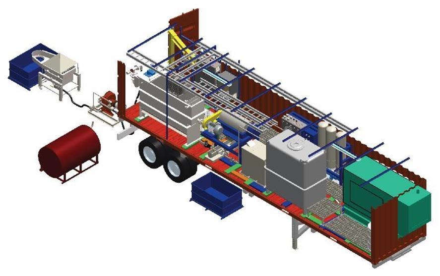 BTP-LeMar Sludge processing mobile field complex