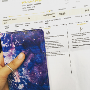 My boarding pass and passport for my flight to start to study abroad
