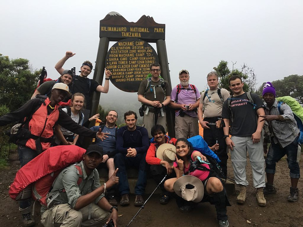 first night stop in kilimanjaro at machame camp