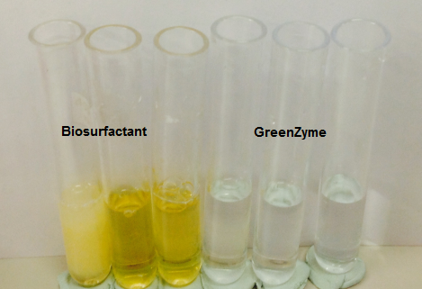 Salinity interactions bio surfactant study Aberdeen university