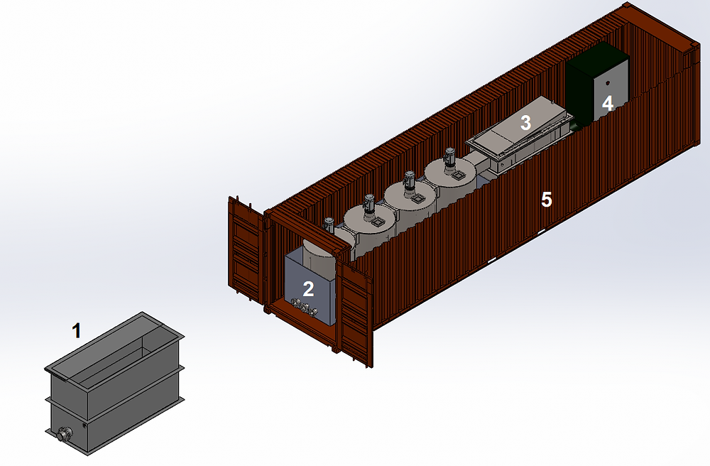 modular digester design for petroleum waste processing on site