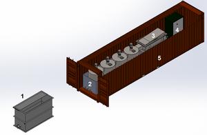 modular digester design for petroleum waste processing on site