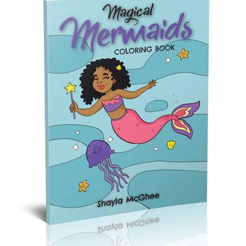 Magical Mermaids Coloring Book