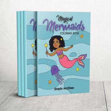 Magical Mermaids: Mermaid Coloring Book