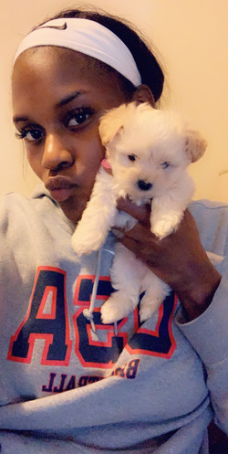 Kalani Brown and Anonymous Puppy