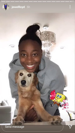 Jewell Loyd and Mikey