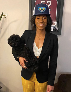 Tyasha Harris and Anonymous Puppy