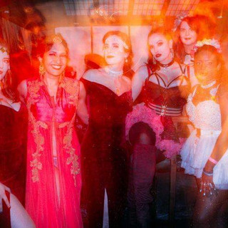 Loving the effect that the crazy lighting at this event had on these images!!! My beautiful girls, from left to right: Bonnie Knockers Bolly Ditz Dolly Felina Onyx Me Miranda Lee Velvet Sparks