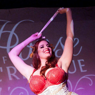 The JOY in my face!!!  This picture is a dream, it captures my very first burlesque performance and as you can see, I was LOVING IT!