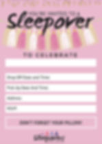 Free Sleepover and Slumber Party Invite