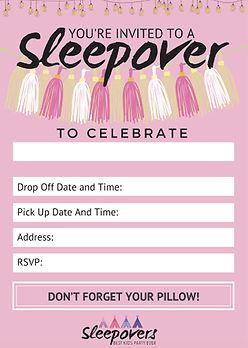 Free Sleepover and Slumber Party Invite