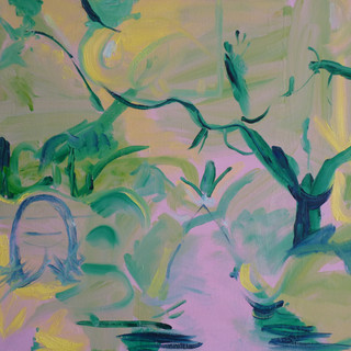 I wasn't looking for escapism, Grave Stone Oil on linen 76x99cm 2013